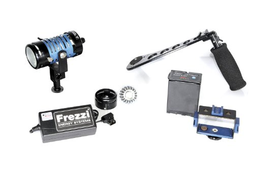 Frezzi Energy Systems - Frezzi HH-1 Kit Includes Dimmer Mini-Fill, PB-65 Battery, Charger, Camera Battery Mount Holder, SG-HH Hand Grip Stabilizer, and Shoe Mount