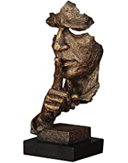 Abstract and Creative Desk Decorations The Thinker Statue, Hand & Face Statues and Sculptures for Home Living Room Decor