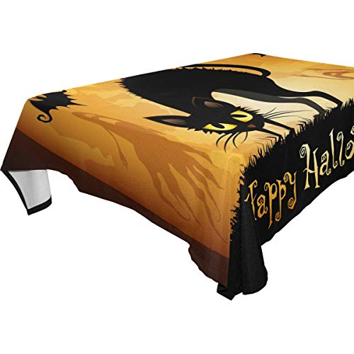 Naanle Halloween Holiday Rectangle Tablecloth 54