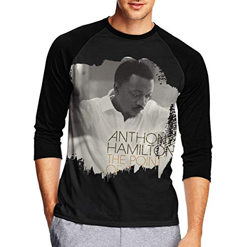Long Sleeve T Shirt Men, Anthony Hamilton The Point It All Long Sleeve Tee Classic Casual Jersey Black