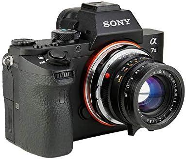 SHOTEN Black Adapter for Leica M Ziess M VM Mount Lens to Sony E Mount NEX a7S a7II a7RII a7SII a7III a7RIII and a9