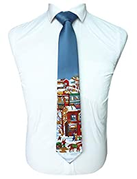 JEMYGINS Christmas Ties for Men Novelty Holiday Printed Necktie
