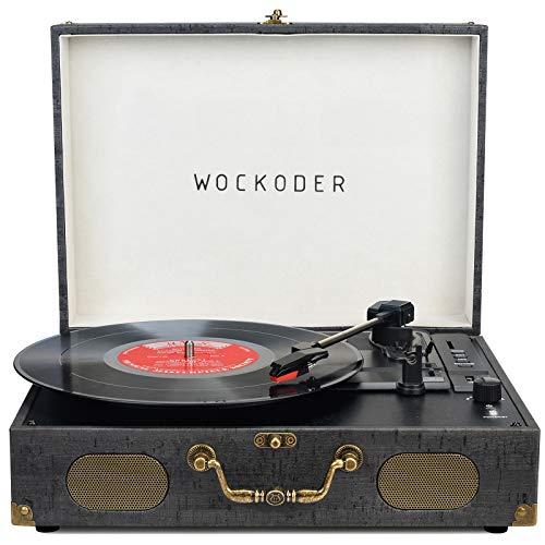 صفحه ضبط کننده ضبط وینیل برای ضبط وینیل ضبط LP پخش کننده فنونوگرافی قابل حمل با بلندگو پشتیبانی کننده پخش کننده تورنت بی سیم USB بی سیم فونوگراف چمدان طراحی بی نظیر