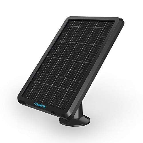 (Reolink Solar Panel Power Supply for Wireless Outdoor Rechargeable Battery Powered IP Security Camera Reolink Go/Argus Eco/Argus 2/Argus Pro)