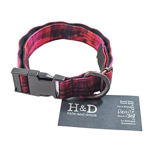 Hide & Drink Dog Collar for Small - Medium Dogs  Handmade Tr