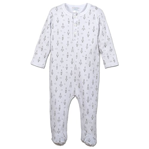 othes Pima Cotton Long Sleeve Henley Footie Sleep 'N Play Coverall Romper ()