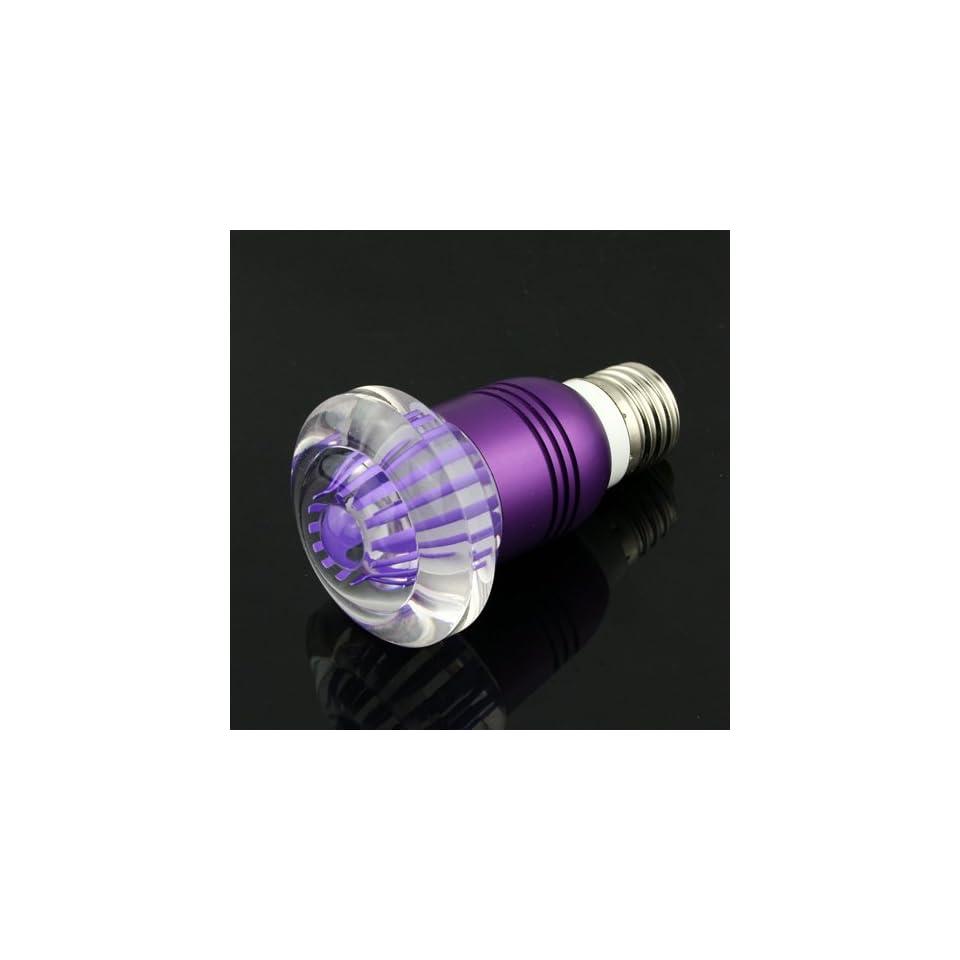 FILI 3W E27 Crystal Glass Umbrella 16 Color Change RGB 3W LED Light Bulb Lamp w/Remote Control