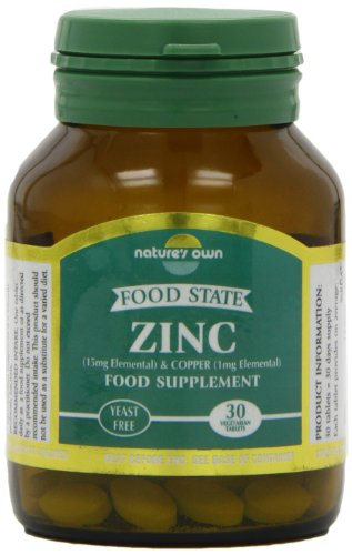 Natures Own Food State Zinc and Copper 15mg/1mg