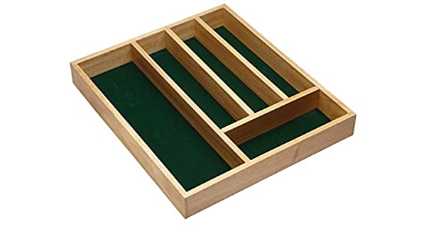 Amazon.com: Kitchen Craft Wooden Cutlery Tray with Five Sections: Cutlery Sets: Kitchen & Dining