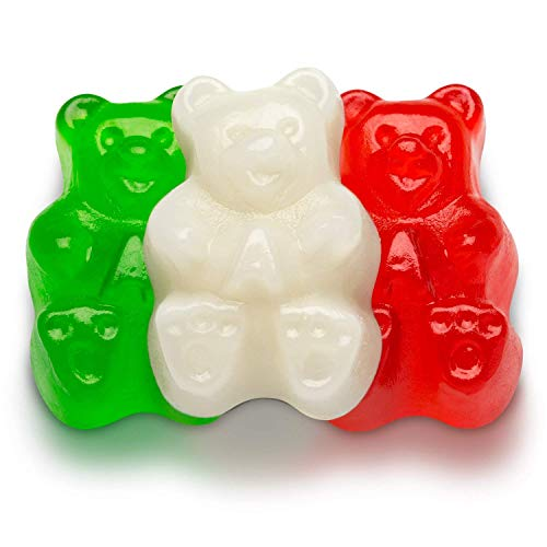 Albanese Christmas Bears (Red, Green and White), 5-Pounds
