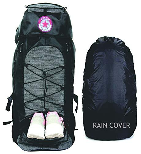 POLESTAR Flyer Black 55 ltrs Rucksack for Hiking Trekking/Travel Backpack Price & Reviews