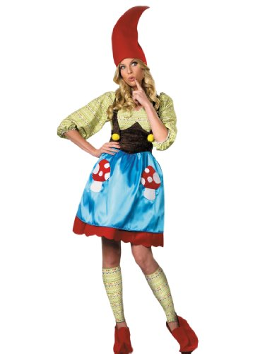 Gnome Costume Dress Leg Warmers Hat and Boot Covers Womens Theatrical Costume Sizes: Large Blue]()