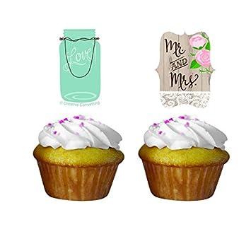 Muffin Deko Hochzeit Im Landhaus 12 Tlg Amazon De Kuche Haushalt