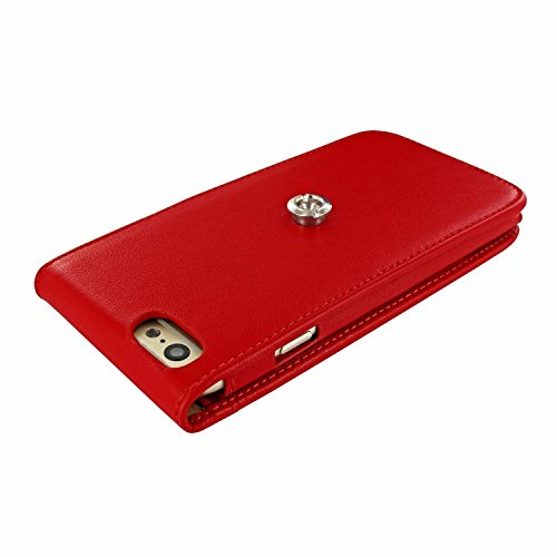 Piel Frama 689 Red Magnetic Leather Case for Apple iPhone 6 Plus / 6S Plus by Piel Frama (Image #4)