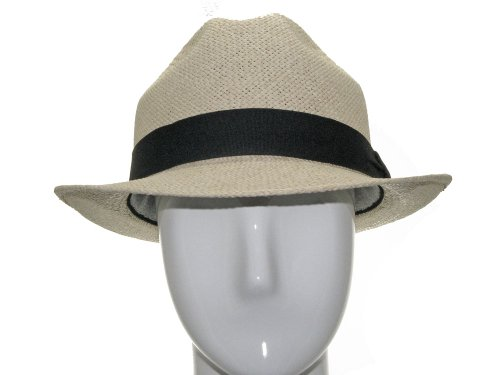 UNIQUE PACKABLE Fedora Panama straw Hat Stingy Brim 7