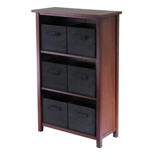 Verona 3 Section Storage Shelf with 6 Baskets - Winsome 94281