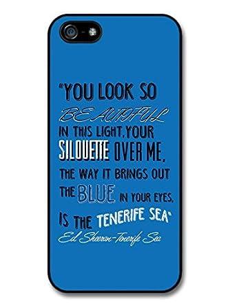 Amazon.com: Ed Sheeran Singer Tenerife Sea Lyrics Case For ...