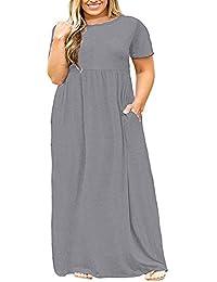 Womens Plus Size Maternity Short Sleeve Empire Waist...