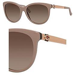 Gucci Women's GG 3784S Dark Havana/Gold Sunglasses