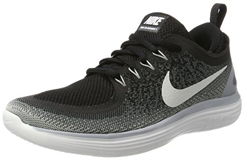 (Nike Womens Free Rn Distance 2 Black/White Cool Grey Running Shoe Size 11)