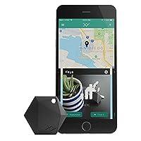 Xy4+ Key Finder | Bluetooth tema dispositivo de seguimiento para encontrar llaves, teléfono, cartera, RF mando a distancia, equipaje | llavero localizador Tracker etiquetas | pista la ubicación de nada, Carbón
