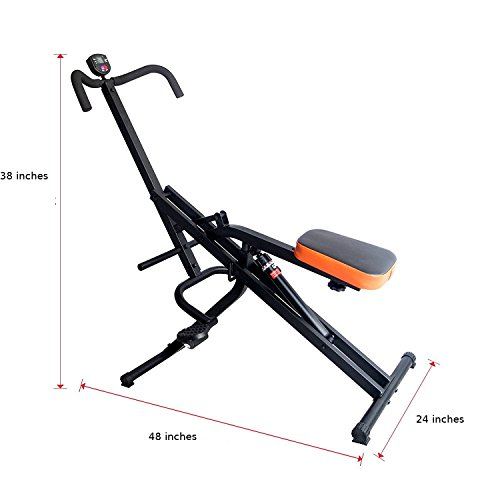 Total Crunch Hydraulic Resistance Core Legs Uppper Body and Ab Exercise Riding Machine by Total Crunch DP