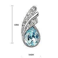 Bridal Water Drop Jewelry Set Crystal Pendant Necklace Bracelet Stud Earrings