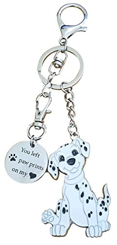 (AM Landen Dog Cat Super Cute Keychain Key Chains for Best Friends Key Chains Best Gift Keychains (Dalmatian with plate))