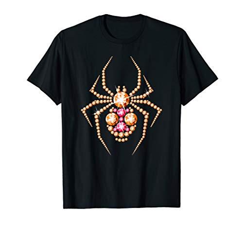 Spider Halloween T-shirt. Black widow glamorous t shirt.]()