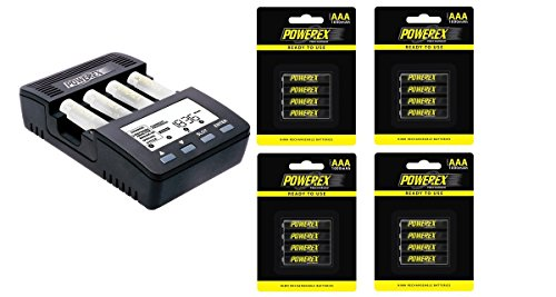 - Powerex MH-C9000 WizardOne Charger-Analyzer for 4 AA/AAA NiMH/NiCD Batteries Bundle with 4x 4-Pack AAA Batteries