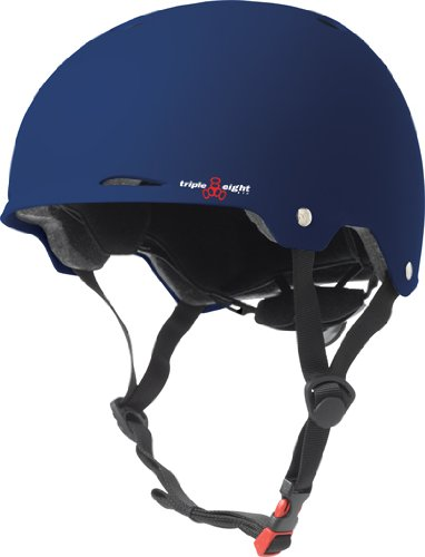 Triple Eight Gotham Matte Helmet, Blue, Large/X-Large (Helmet Blue X-large Matte)