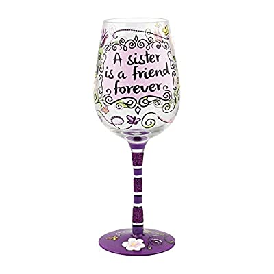 Top Shelf A Sister is a Friend Forever Wine Glass