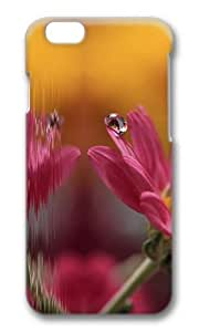 MOKSHOP Adorable flower drop macro Hard Case Protective Shell Cell Phone Cover For Apple Iphone 6 Plus (5.5 Inch) - PC 3D