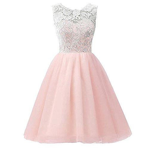 ZaH Girl's Chiffon Lace Pageant Party Wedding Bridesmaid