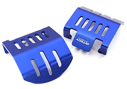 Integy RC Model Hop-ups C28417BLUE Alloy Front /& Rear Differential Skid Plates for Traxxas TRX-4 Scale Crawler