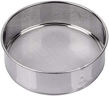 AMPSEVEN Tamis Sieve Flour Stainless Steel 40 Mesh Round Sifter for Baking 6 Inch