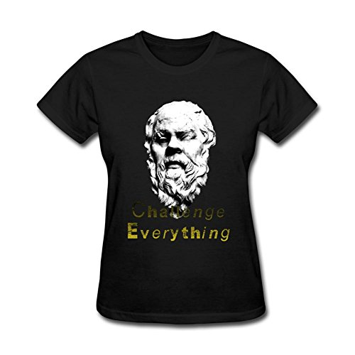 XingL Women's Socrates Greek Philosophy Design Short Sleeve T Shirt