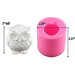 2 Pack Owl Candle Mold, Buytra 3D Silicone Mold fo