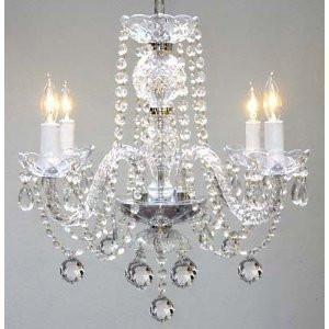 Murano Venetian Style All Crystal Chandelier H17