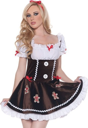 Sugar & Spice Gingerbread Cutie Adult Costume Size 6-8 (Sugar And Spice Costumes)