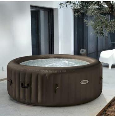 INTEX SPA Hinchable Pure SPA chorros 4 plazas Redondo 196 x 71 ...