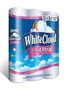 Amazon Com White Cloud Ultra Comfort Bathroom Tissue 12