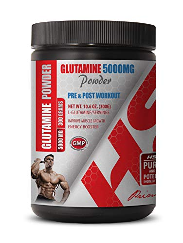 Post Workout Powder - PRE & Post Workout - GLUTAMINE Powder 5000MG - glutamine Essential Amino Acid - 1 Can 300 Grams