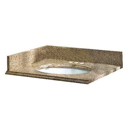 Pegasus 79682 37 Inch By 22 Inch Solid Granite Vanity Top, Beige