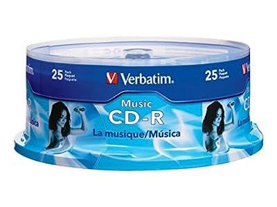 Verbatim 700MB 40x 80 Minute Music Recordable Disc CD-R, 25-Disc Spindle 96155 by Verbatim