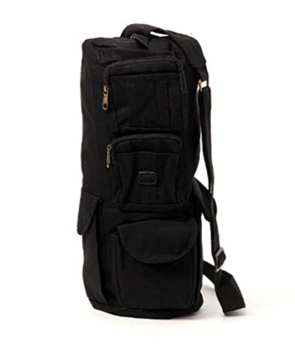 RL Haversack Fabric Travel Gym Bag for Men(Black)  Amazon.in  Bags ... 840a1c1dcec99