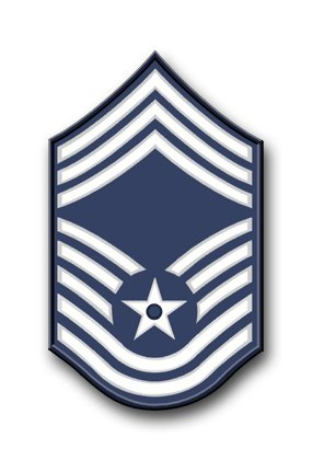 US Air Force Chief Master Sergeant (No Diamond) Vinyl Transfer Decal Military Veteran Served Window Bumper Sticker Vinyl Decal 3.8