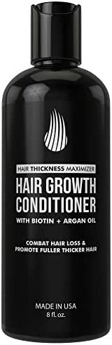 Biotin Conditioner For Thinning Hair And Hair Loss by Hair Thickness Maximizer. Hair Thickening Conditioner for Maximum Hair Growth. Best Hair Loss Treatment For Men and Women. With Argan Oil