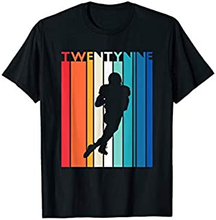 29th Birthday Gift Vintage Football  for 29 Year Old T-shirt   Size S - 5XL