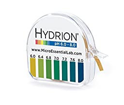 MICRO ESSENTIAL LABS pHYDRION VIVID PH PAPER 6-8 PH 15 FT ROLL WITH COLOR CHART